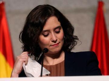 Isabel Díaz Ayuso comparece ante los medios para anunciar las restricciones