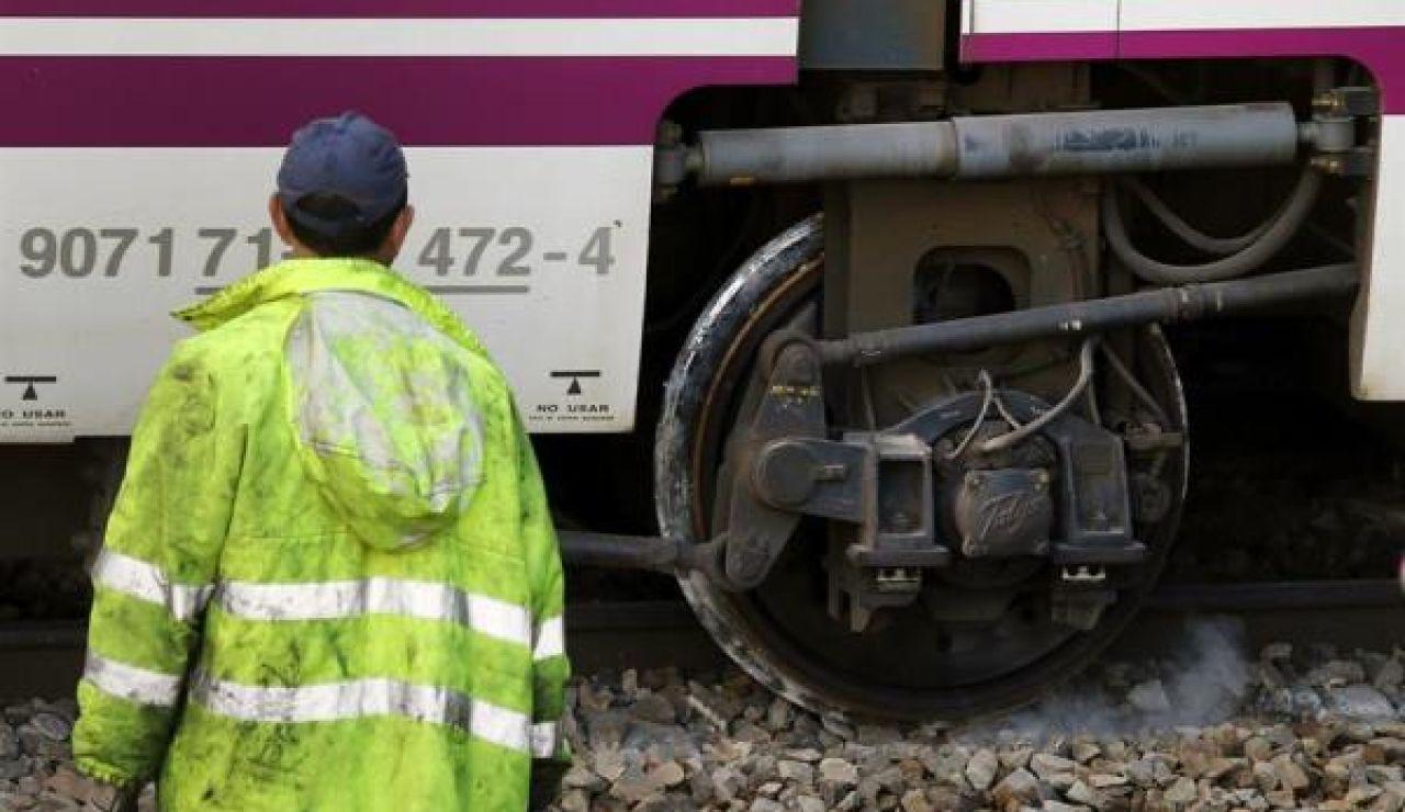 Imagen del tren descarrilado