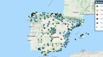 Mapa contaminación
