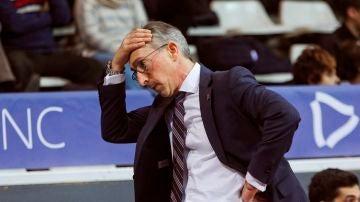 Moncho Fernández, entrenador del Monbus Obradoiro