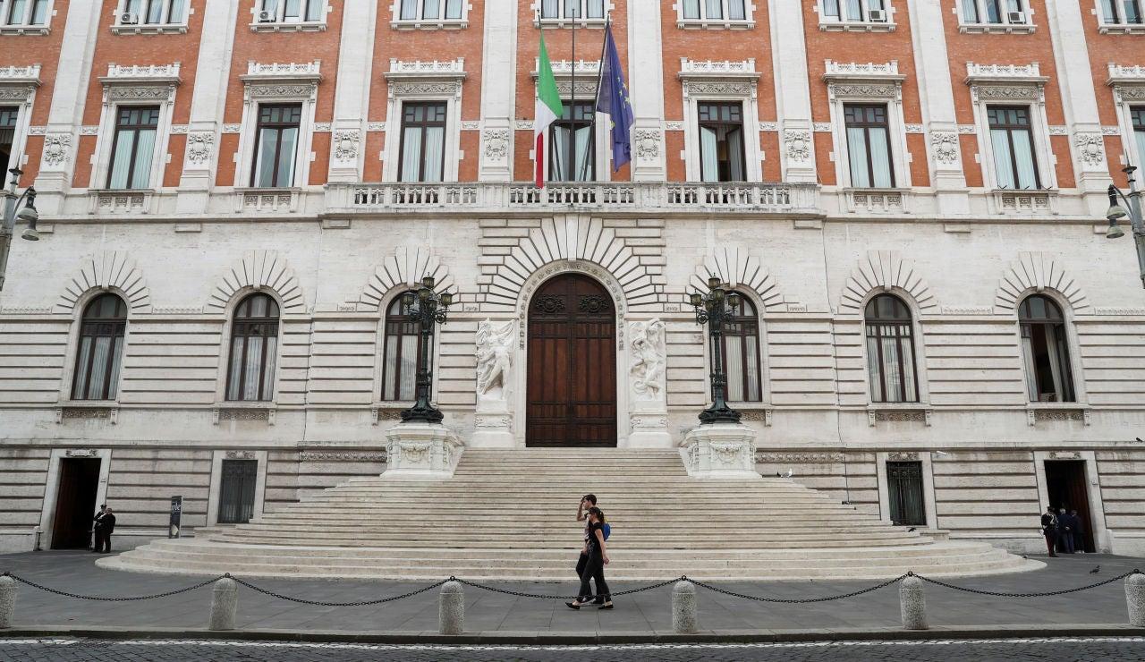 La fachada del Parlamento italiano