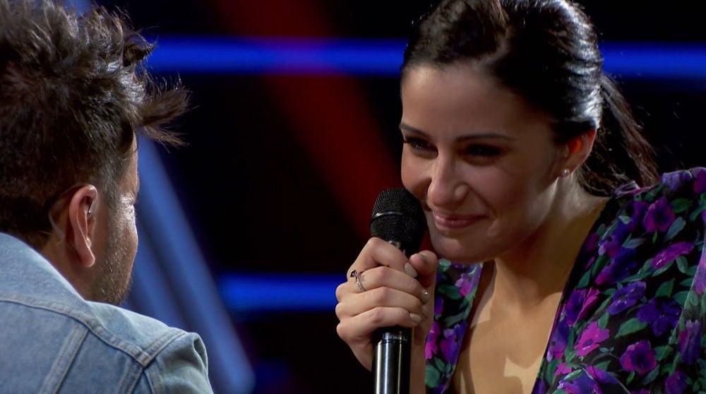 María Cortés se reencuentra con Pablo López un año después en 'La Voz'