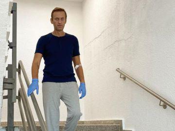 Navalni, en el hospital en el que lleva a cabo su recuperación