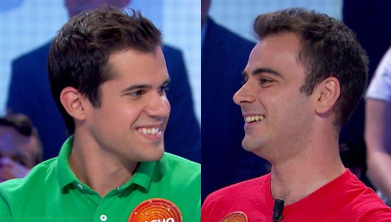 Nacho y Pablo en 'Pasapalabra'