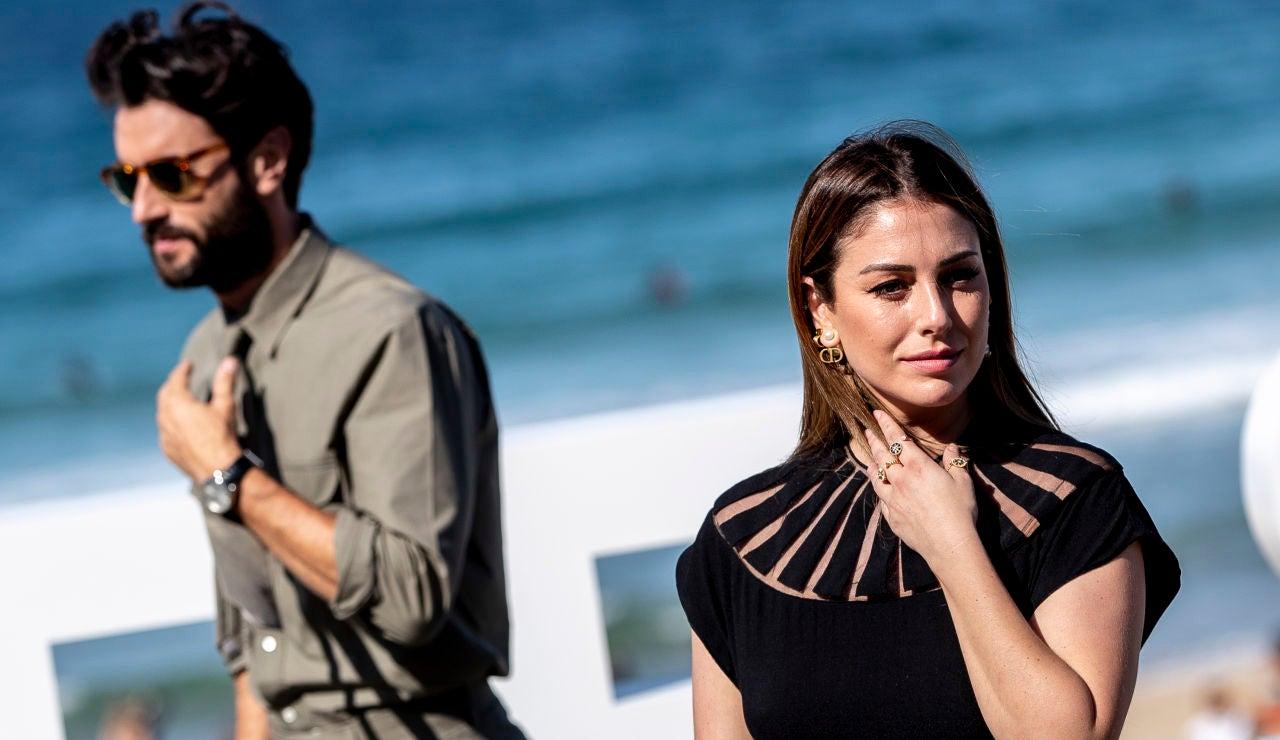 Blanca Suárez y Javier Rey durante el Festival de Cine de San Sebastián