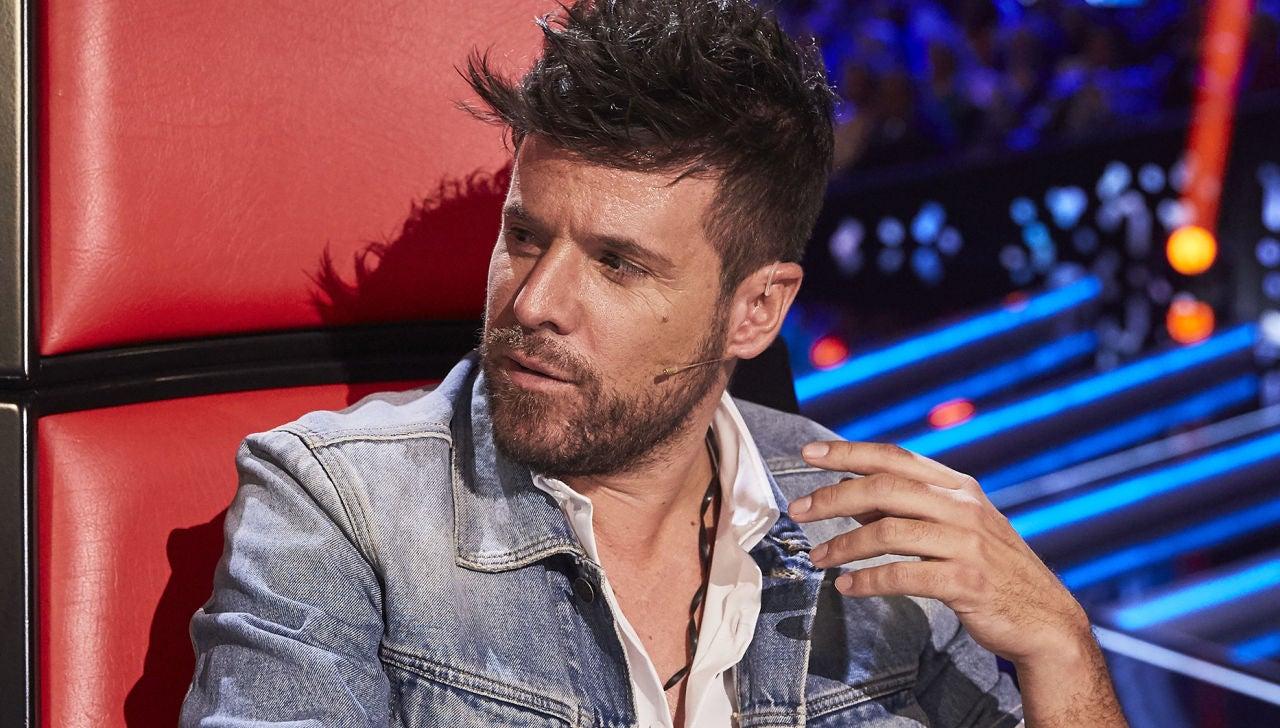 Pablo López en las Audiciones a ciegas de 'La Voz'