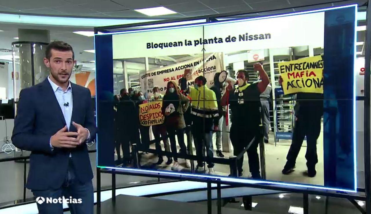 Protestas de los trabajadores de Acciona en Nissan para evitar los despidos