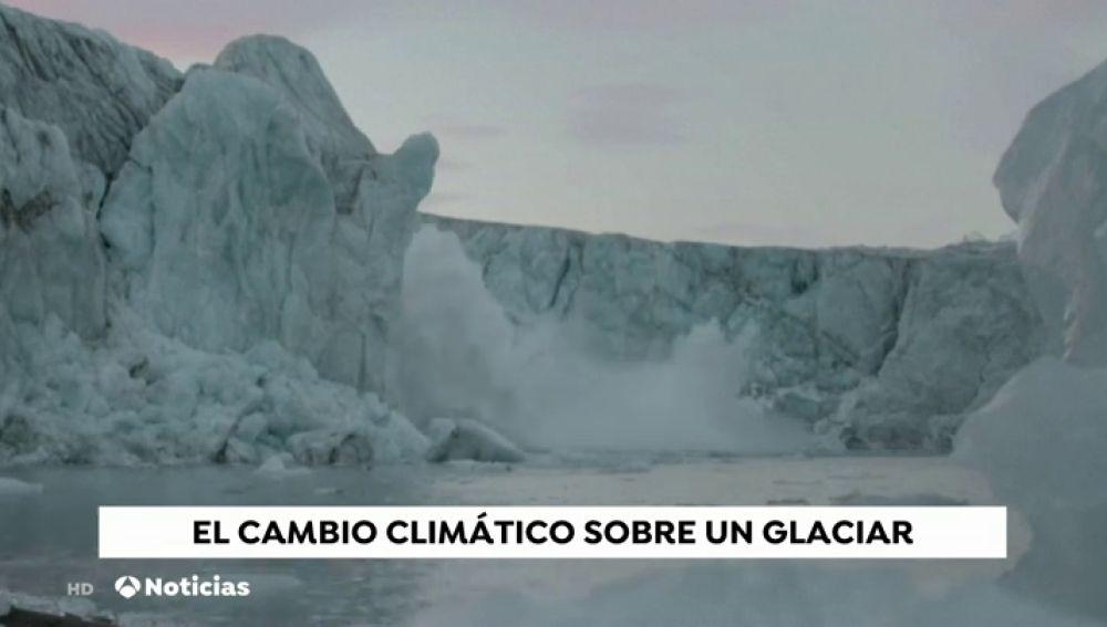 El impactante vídeo de las consecuencias del cambio climático sobre un glaciar en Noruega