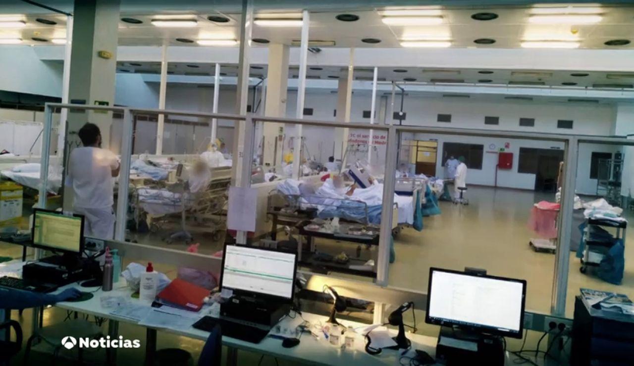 El hospital de La Paz de Madrid ya tiene enfermos de coronavirus en el gimnasio