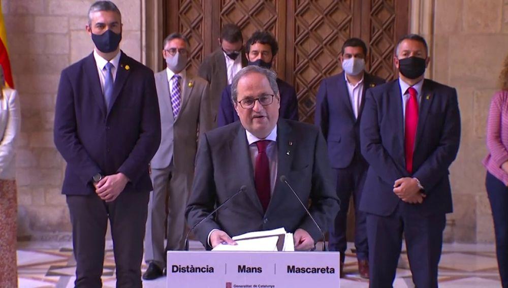 """Quim Torra anuncia elecciones en Cataluña """"en unos meses"""" para que confirmen los resultados del referéndum ilegal del 1-O"""