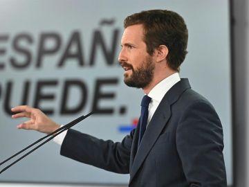 """Pablo Casado: """"La inhabilitación de Quim Torra es posible gracias a una denuncia del PP"""""""
