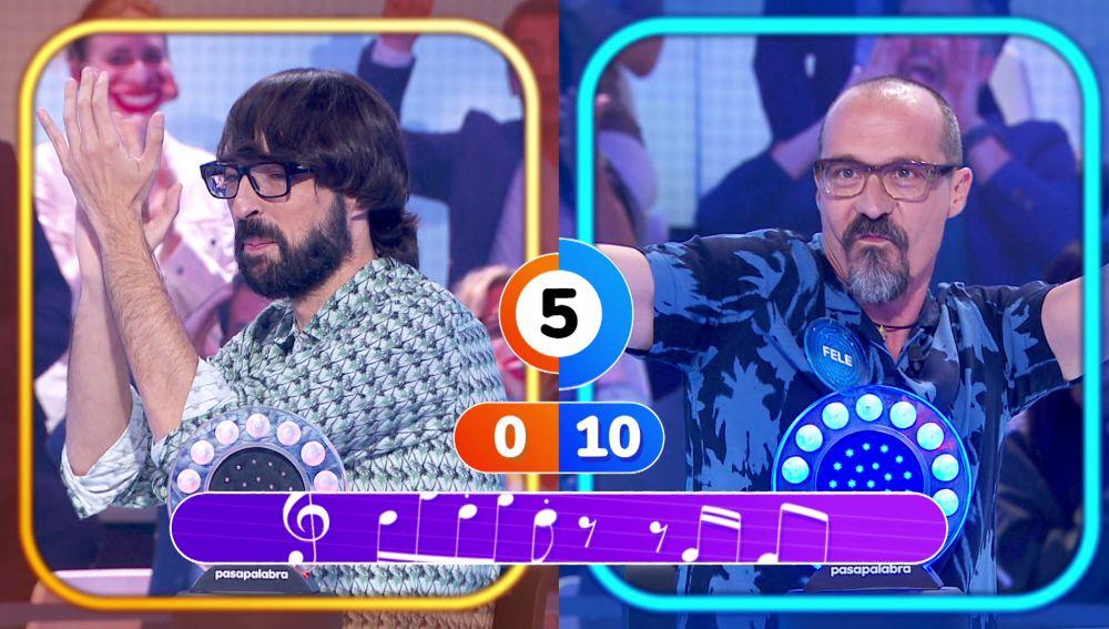 Fele Martínez arrasa con 'Wannabe' en su duelo contra Quique Peinado