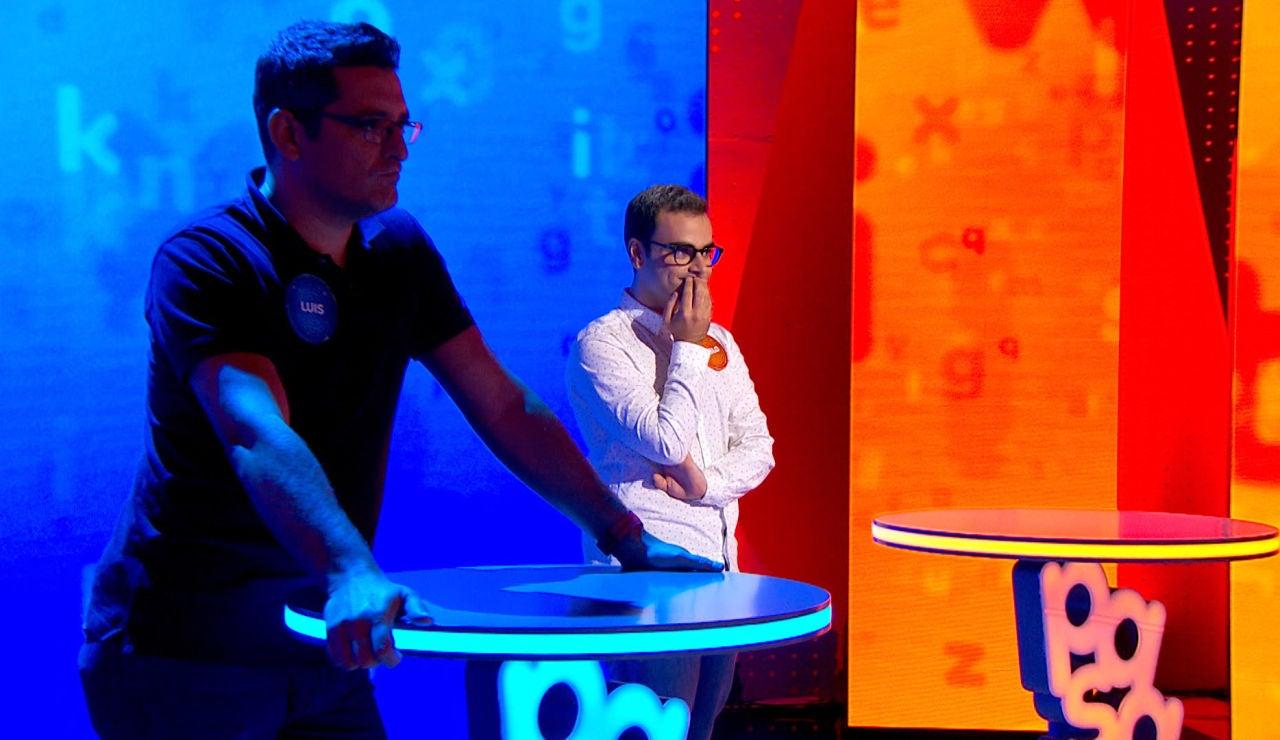 'El Rosco' casi perfecto de Luis y la jugada final de Pablo mantienen en tensión a todo el plató de 'Pasapalabra'