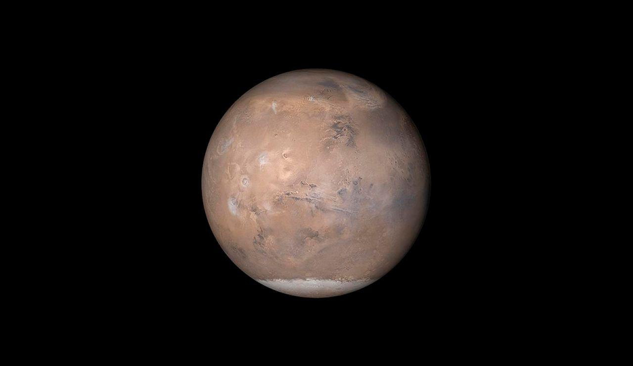 El Polo Sur de Marte esconde una red de lagos de agua líquida y salada bajo su superficie