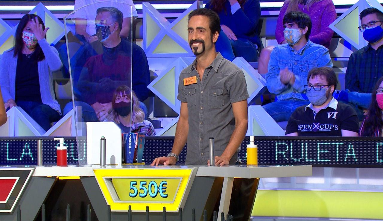 """El desliz con el que Fadi pierde parte de su dinero en 'La ruleta de la suerte': """"Eres una ONG"""""""