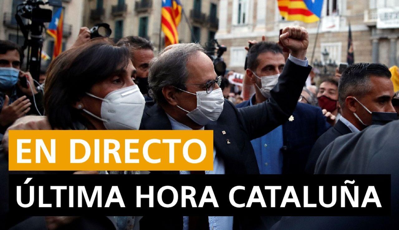 Última hora Cataluña: Quim Torra inhabilitado, nuevos casos de coronavirus y última hora, en directo