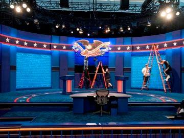 Preparativos del primer debate de las elecciones de EEUU