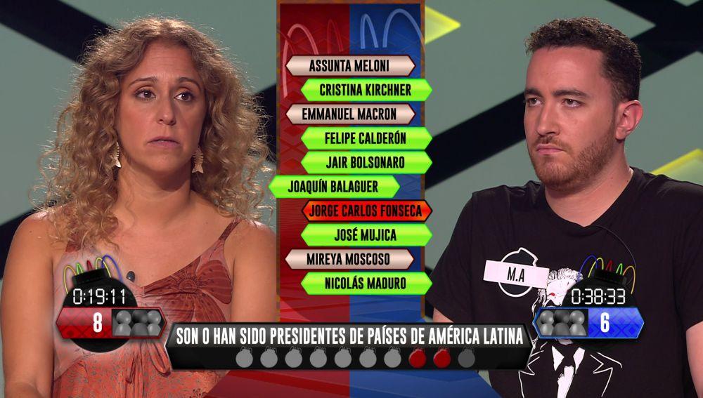 ¡Derrota para 'Los dispersos'! La ajustada derrota de M.A. ante Cecilia, de 'Pica pica'