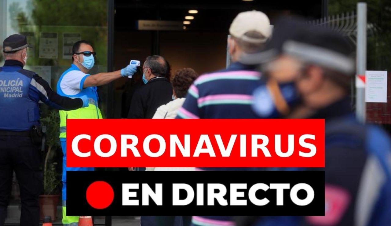 Coronavirus España hoy: Última hora, nuevos casos,  rebrotes y noticias de hoy, en directo