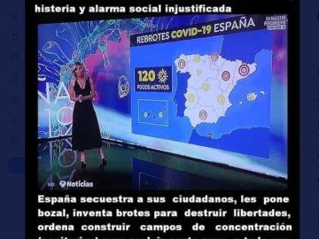 El fake sobre Sandra Golpe