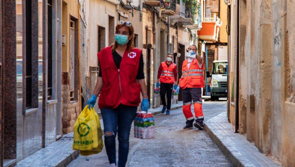 Voluntarios de Cruz Roja Responde