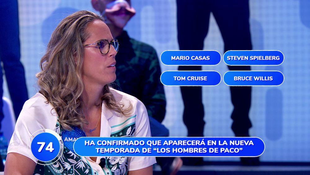 Cristina Pedroche, Alejandro Sanz y Mario Casas se lo ponen difícil al equipo azul en 'Pasapalabra'