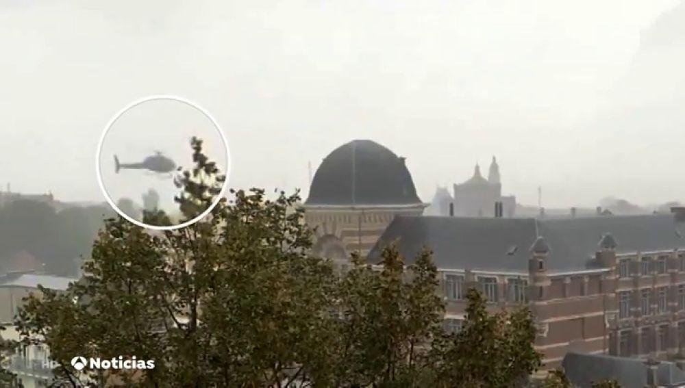 Tres detenidos por fugarse de una prisión de Bruselas secuestrando un helicóptero