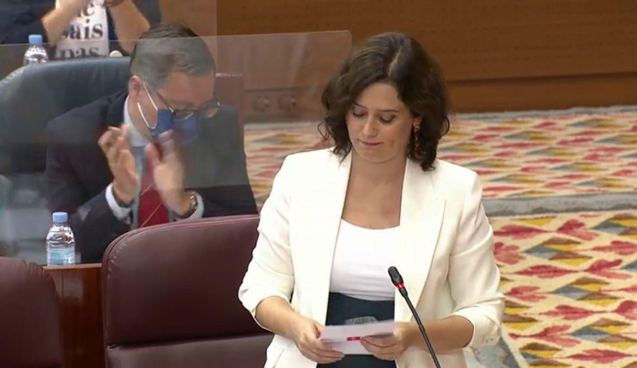 """Isabel Díaz Ayuso, al portavoz de Mas Madrid: """"Chernobyl no sucedió en  Madrid, sucedió cuando gobernaban ustedes"""""""