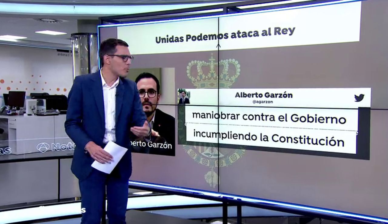El ministro Alberto Garzón se ratifica en sus críticas al rey acusándolo de maniobrar contra el Gobierno