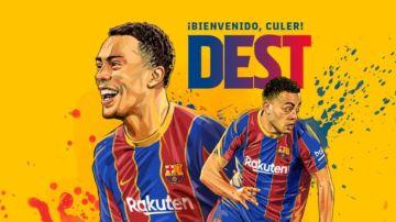 OFICIAL: Sergiño Dest ficha por el Barcelona para las próximas 5 temporadas