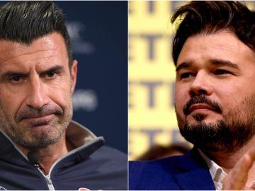 """Luis Figo y Gabriel Rufián se enganchan en Twitter: """"He pagado más a Hacienda durmiendo que tú despierto toda tu vida"""""""