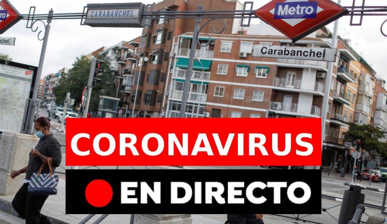 Coronavirus en directo: Confinamiento en Madrid, restricciones y noticias de última hora en España
