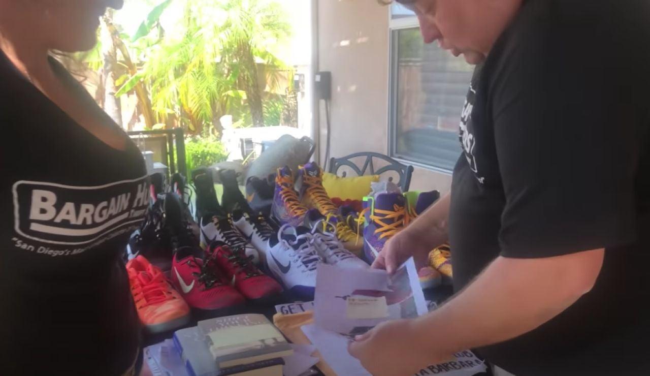 Imagen del vídeo de Rene Nezhoda y el trastero de objetos de Kobe Bryant