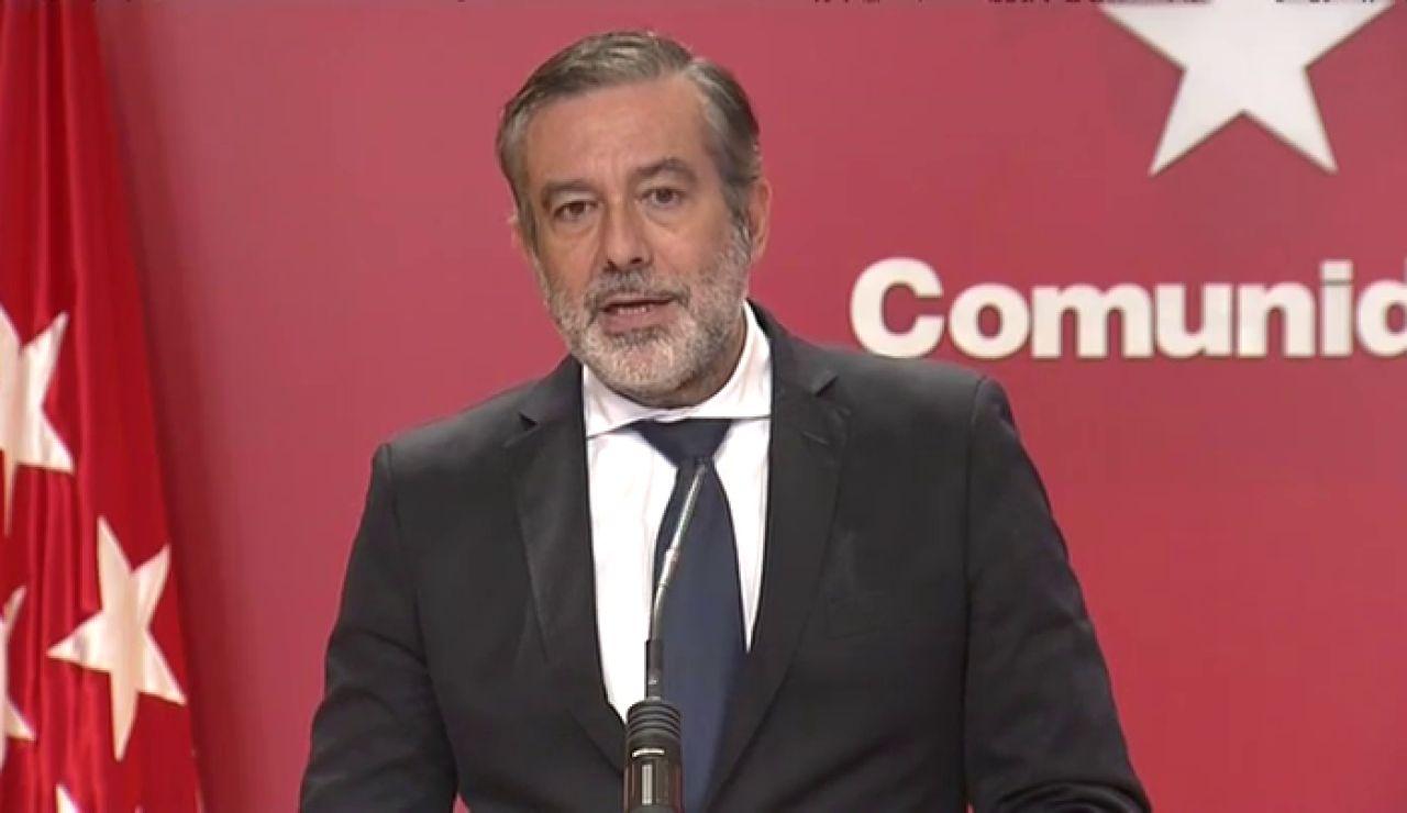 """Enrique López, sobre las restricciones en la Comunidad de Madrid: """"Entendemos que estamos ante una orden nula"""""""