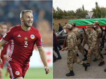 Varazdat Haroyan, capitán de la selección de Armenia, deja el fútbol a los 28 años para ir a la guerra