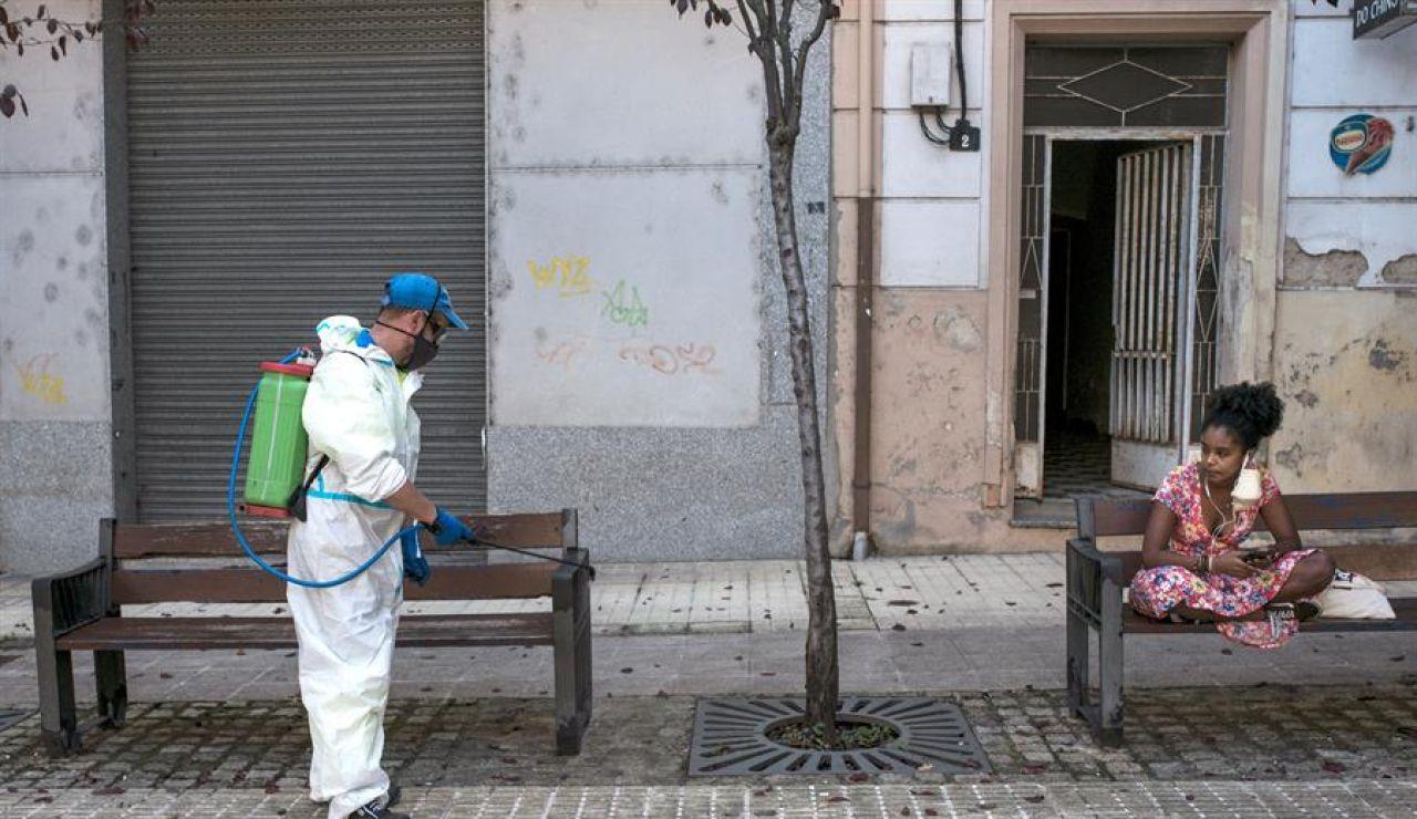 Labores de limpieza en Ourense