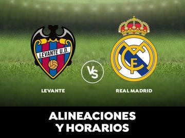 Levante - Real Madrid: Horario, alineaciones y dónde ver el partido en directo | Liga Santander