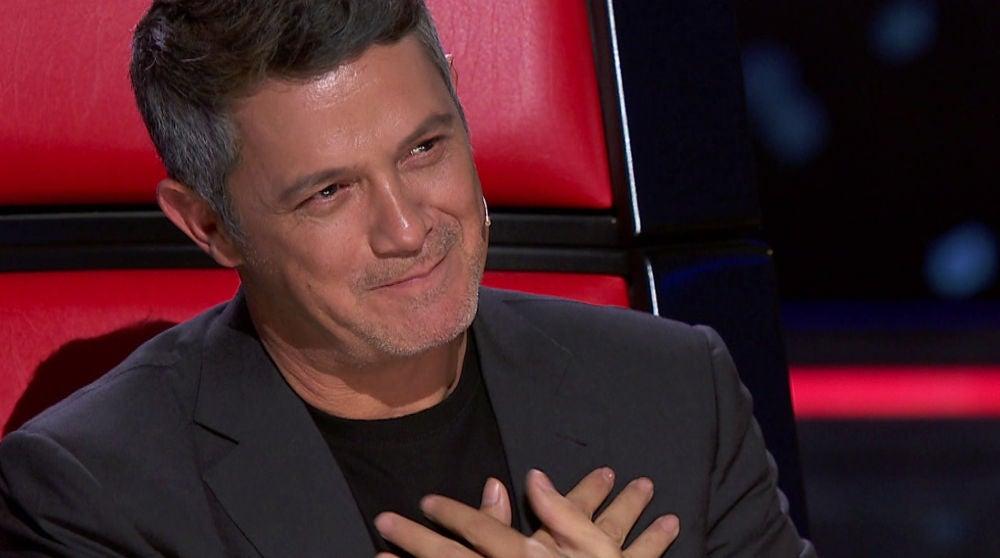 Lisardo Silva emociona a Alejandro Sanz con sus sinceras palabras en 'La Voz'