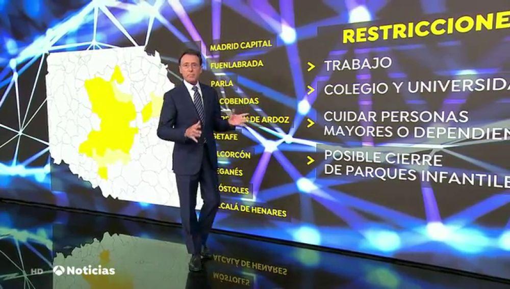 Las preguntas clave sobre qué se puede hacer en las ciudades de Madrid con restricciones por el coronavirus