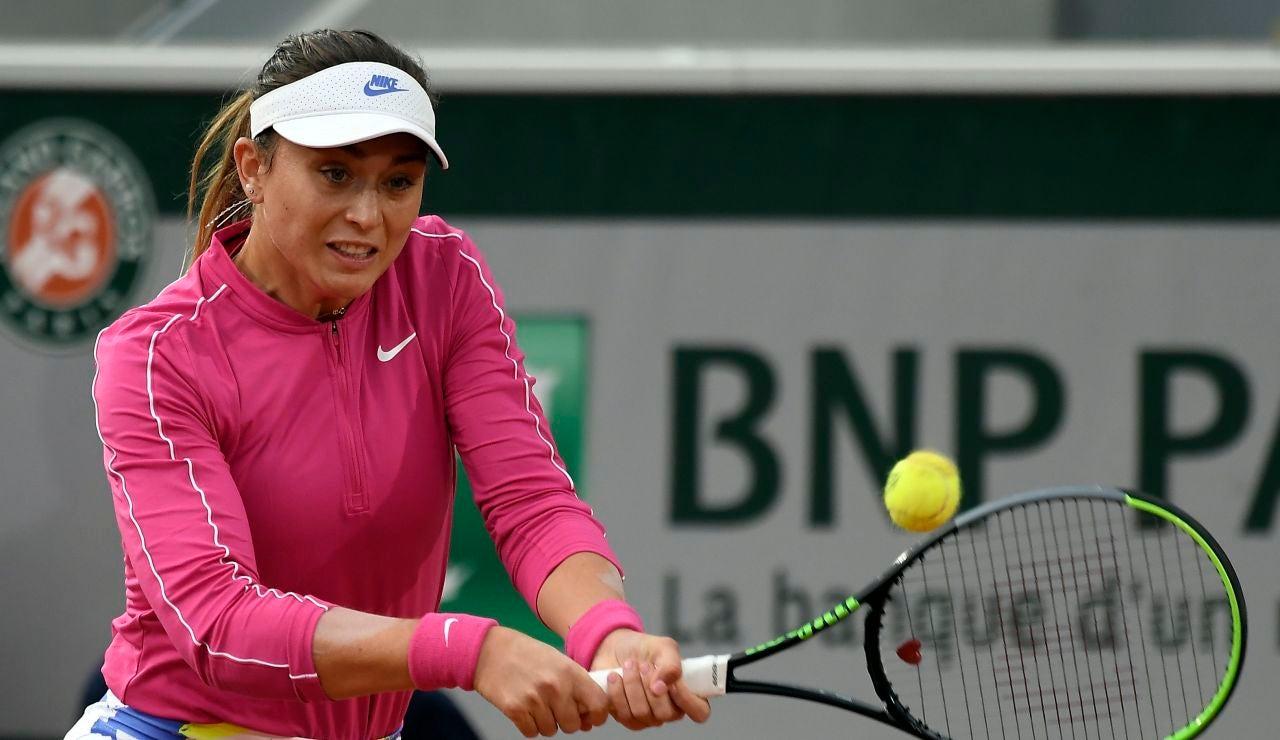 Paula Badosa, durante el partido ante Ostapenko