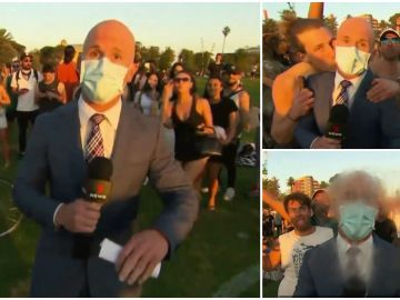 Acosan a un reportero en directo mientras informaba de una fiesta ilegal de jóvenes en Australia