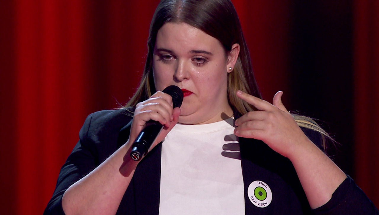 Uxoa Eusebio en las Audiciones a ciegas de 'La Voz'