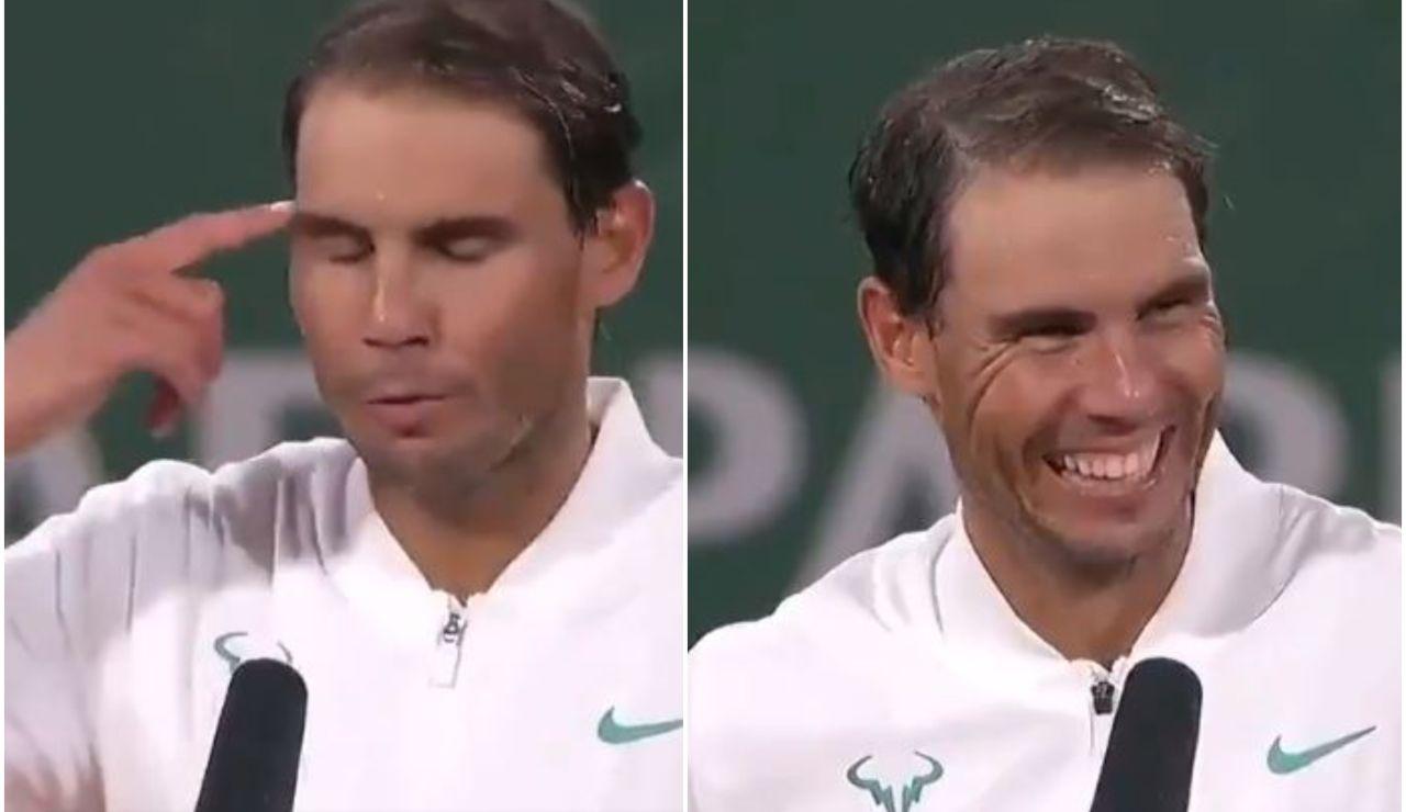 """El curioso bloqueo de Rafa Nadal hablando francés ante los micros de Roland Garros: """"Hoy no estoy inspirado"""""""