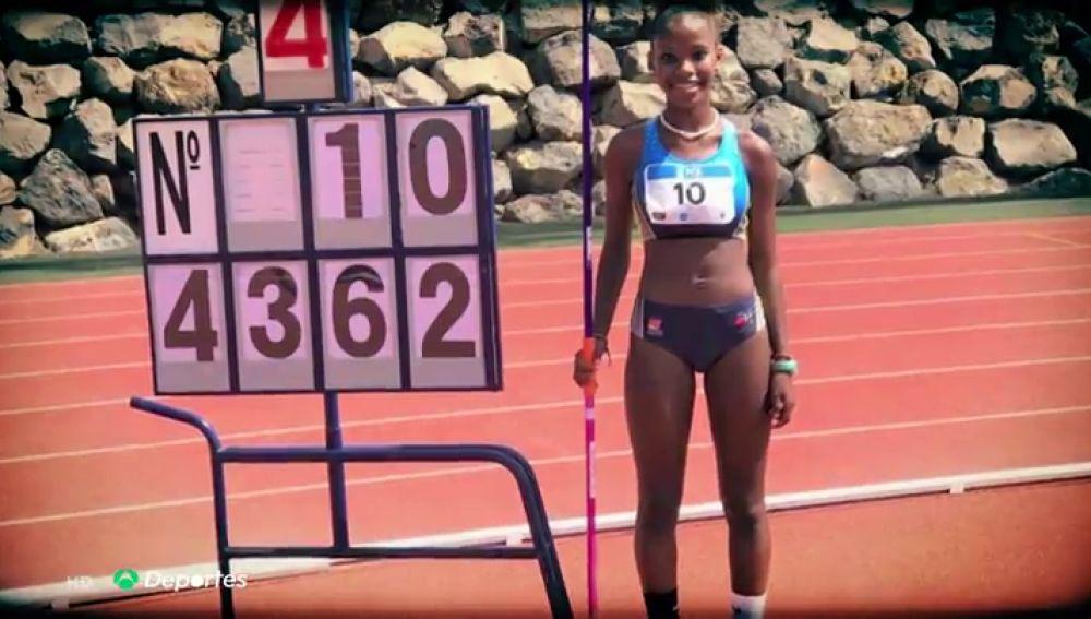 Isabel Ruiz bate su propio récord de España de jabalina sub 14 con la espectacular marca de 43,62 metros
