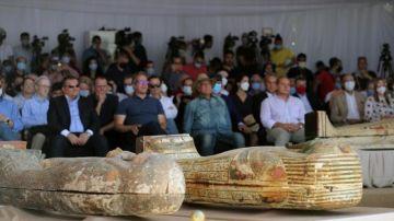Presentación del descubrimiento de Saqqara