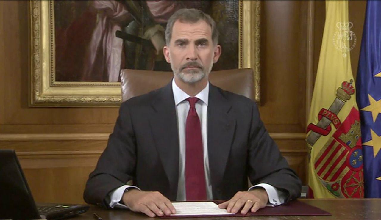 Tres años del discurso del Rey sobre Cataluña tras el referéndum ilegal del 1-O