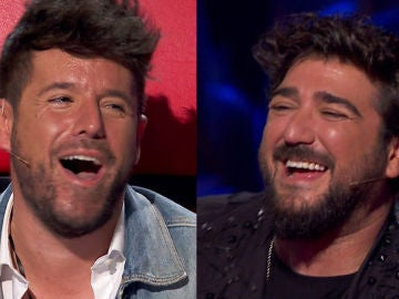 El contagioso ataque de risa de Pablo López y Antonio Orozco en 'La Voz'