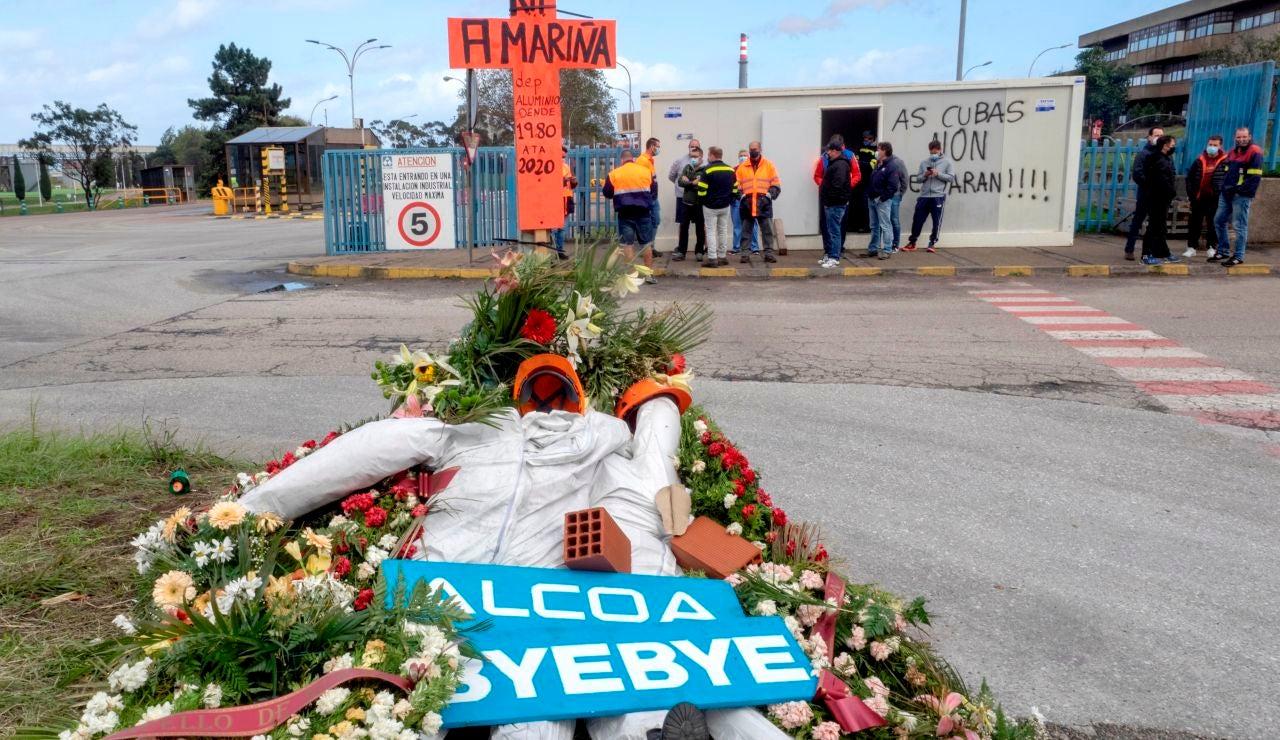 Huelga de trabajadores de fábrica de San Cibrao
