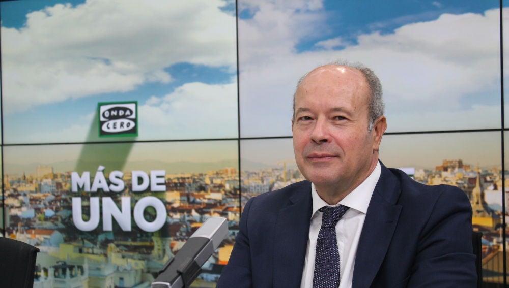 El ministro de Justicia, Juan Carlos Campo, en los estudios de Onda Cero
