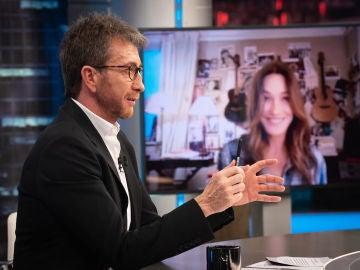 Carla Bruni revela en 'El Hormiguero 3.0' la receta del éxito de su matrimonio junto a Nicolas Sarkozy